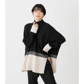 COMBINATION LOOSE KNIT 柄BLK5
