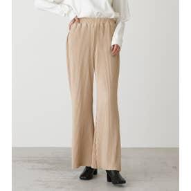 PLEATS SEMI FLARE PANTS L/BEG1