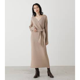 FRONT LINK KNIT ONEPIECE BEG