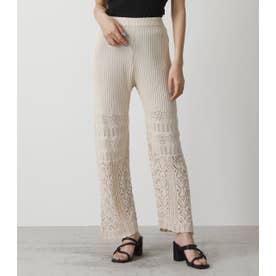 CROCHET FLARE PANTS L/BEG1