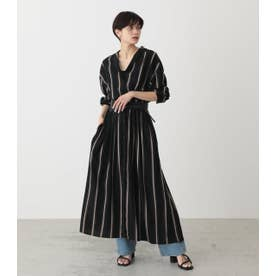 BLOUSING MAXI ONEPIECE 柄BLK5