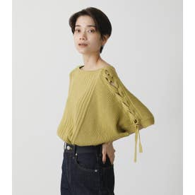 2WAY LACE-UP LOOSE KNIT LIME