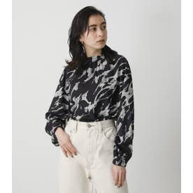 MARBLE PATTERN BLOUSE 柄BLK5