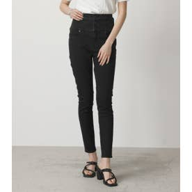 HIーWAIST BUTTON DENIM SKINNY2 BLK