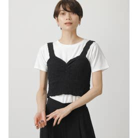 GATHER BUSTIER SET TOPS 柄WHT5