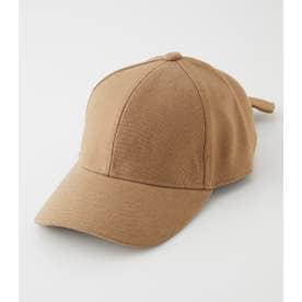 LIKE LINEN BACK RIBBON CAP BEG