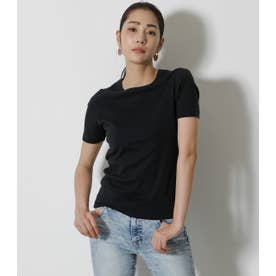 COTTON USA FIT TEE BLK