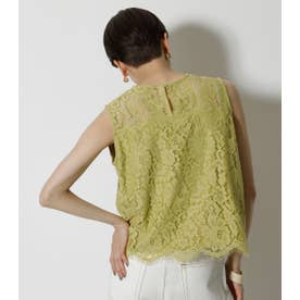 SCALLOP LACE TOPS LIME