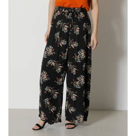FLOWER RELAX PANTS 柄BLK5
