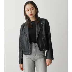 FAUX LEATHER RIDERS BLK