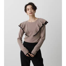 FRONT FRILLED KNIT TOPS BEG