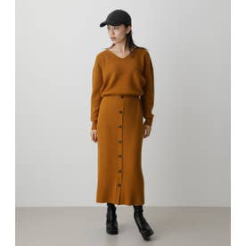 FRONT BUTTON BLOUSING ONEPIECE YEL