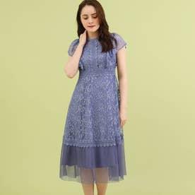 Dorry Doll チュール刺しゅうレースドレス (ブルー)