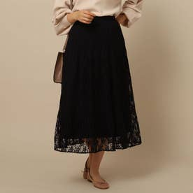 【WEB先行】チュールレーススカート (ブラック)