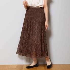 【WEB先行】チュールレーススカート (ブラウン)