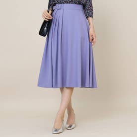 【手洗い可】女子の味方♪アシンメトリータックのカラースカート (ライトパープル)