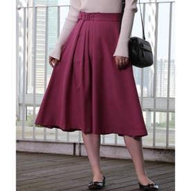 【手洗い可】女子の味方♪アシンメトリータックのカラースカート (ラズベリーピンク)