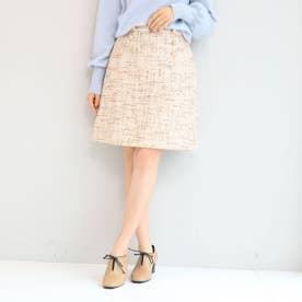 毎年好評ファンシーツィード/トレンドミニ丈スカート (ベビーピンク)