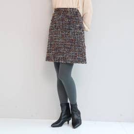 毎年好評ファンシーツィード/トレンドミニ丈スカート (ネイビー)