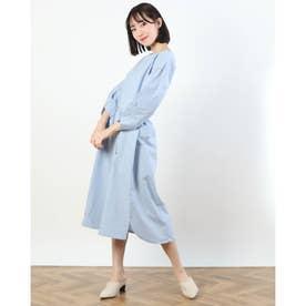 【特別プライス】ベルテッド袖タックOP (BLUE)