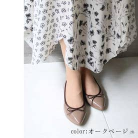 glitter 日本製 防水バレエシューズ (オークベージュ)
