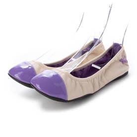 レディース 靴 シューズ バレエシューズ (Nude/Purple)