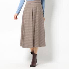 スカート (ブラウン×ダークブラウン)