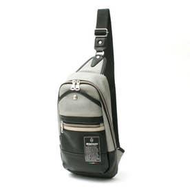 TBPI-02 PUレザー ボディバッグ (グレー)