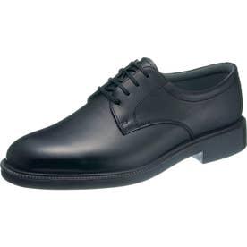 男性用ビジネスシューズ プレーントゥタイプ 通勤快足3324 紳士靴 メンズ (ブラック)