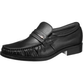 男性用ビジネスシューズ モカシンタイプ 通勤快足7708 紳士靴 メンズ (ブラック)