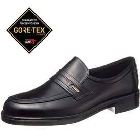 男性用ビジネスシューズ 柔らかな牛革使用 通勤快足3126 紳士靴 メンズ (ブラック)