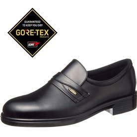 男性用ビジネスシューズ 柔らかな牛革使用 通勤快足3125 紳士靴 メンズ (ブラック)