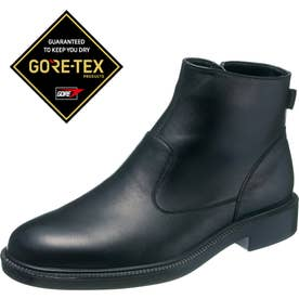 男性用ショートブーツ 通勤快足3318 紳士靴 メンズ (ブラック)