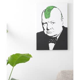 アートキャンバス (ホワイト×グリーン)