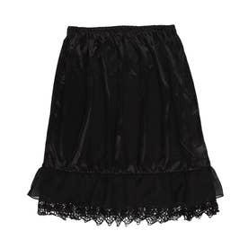 裾レースフリルスカートペチ (BLACK)