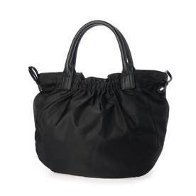 ナイロンA4トートバッグ 「テオドラ」 (ブラック*ブラック)