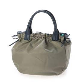 ナイロンA4トートバッグ 「テオドラ」 (ライトグレー*ネイビー)