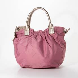 ナイロンA4トートバッグ 「テオドラ」 (ピンク*ゴールド)