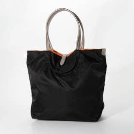 ナイロンA4トートバッグ「ジェノバ」 (ブラック*ゴールド)