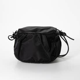 ナイロンショルダーバッグ「ジャスミン」 (ブラック*ブラック)
