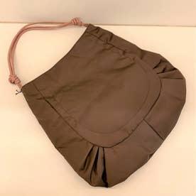 ナイロンA4トートバッグ「ジゼル」 (コーヒー*ピンクベージュ)