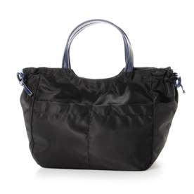 ナイロンA4トートバッグ「アレッサ」 (ブラック*ネイビー)