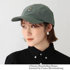 OSAMU GOODS/オサムグッズ コラボ 刺繍コットンナイロンローキャップ (オリーブグリーン)