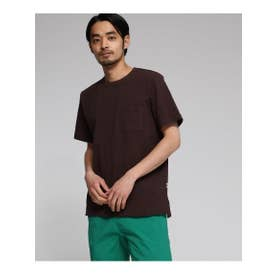 YZ 20/2 天竺 無地 半袖 Tシャツ (ダークブラウン(043))