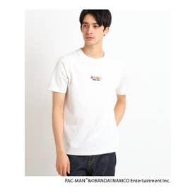 PAC-MAN/『ゴースト』胸刺繍Tシャツ (アイボリー(004))