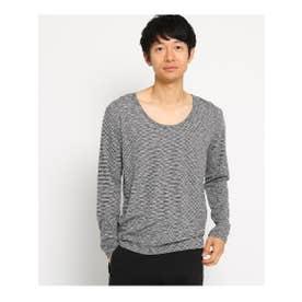 SB SS Uネック 長袖Tシャツ (ブラック(119))