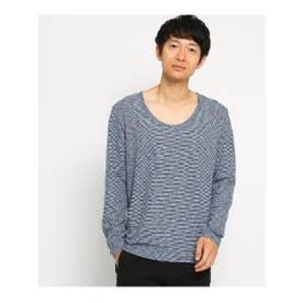SB SS Uネック 長袖Tシャツ (ネイビー(193))