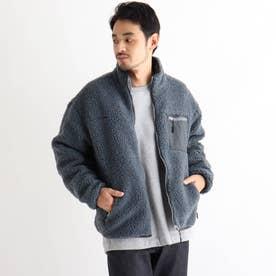 SK ボア スタンドジャケット ブルゾン (サックス)