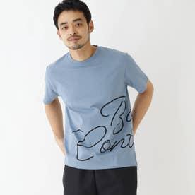 抗菌防臭 ロゴグラフィックバリエーション 半袖Tシャツ (ライトブルー)