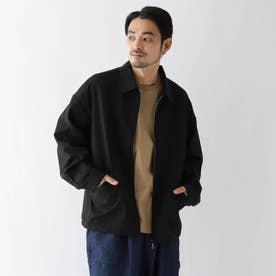 ジャケットデザイン シャツブルゾン (ブラック)
